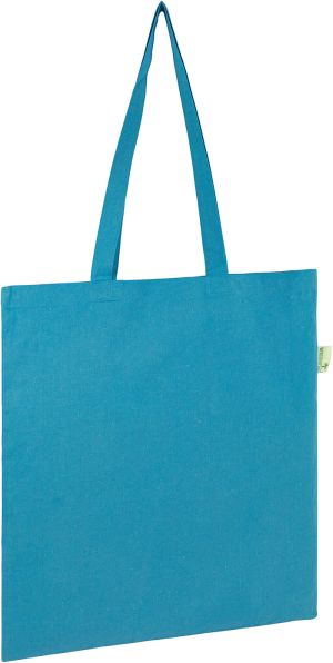 Seabrook Recycled 5oz Cotton Tote Bags in Bright Blue