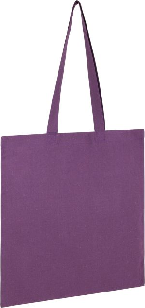 Seabrook Recycled 5oz Cotton Tote Bags in Purple