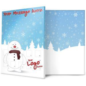 Snowman Design Corporate Branded Advent Calendars UK Printed