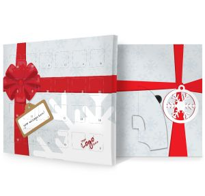 Christmas Bow Design Promotional Advent Calendars Branded Giveaways