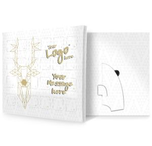 Geometric Deer Design Custom Printed Advent Calendars for Business