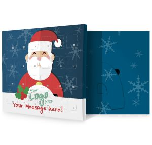Santa Design Corporate Branded Advent Calendars Marketing Giveaways