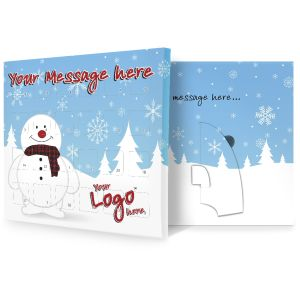 Snowman Design Personalised Advent Calendars Christmas Business Gifts