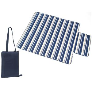 Navy Branded Picnic Blankets for Company giveaways