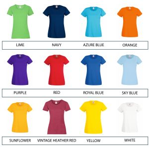 Corporate Branded Women's T-Shirts for Business or Advertising