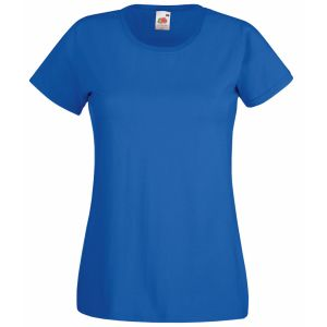 Logo Printed T-Shirts Lady Fit in Blue