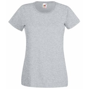 Custom Printed Ladies' T-Shirts Promotional Giveaways in Heather Grey