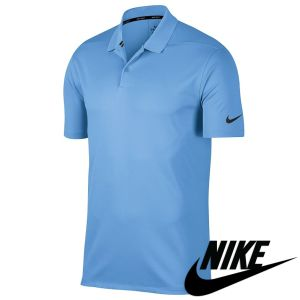 Promotional Nike Victory Dry Polo Shirts in University Blue/Black for Work Uniform