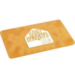 Corporate Branded Mint Cards Promotional Giveaways in Amber