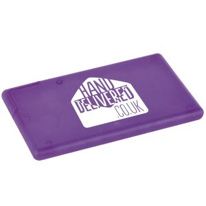Personalised Mint Cards Printed with your Full Colour Logo in Purple