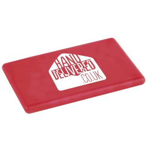 Corporate Branded Sugar Free Mint Cards 48 Hour Dispatch in Red