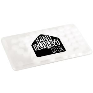 Logo Printed Sugar Free Mint Cards & Branded Sweets in Transparent