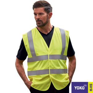 Corporate brandedYoko Hi Vis Waistcoats are the safety essentials for the workplace