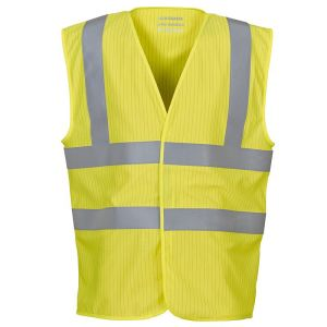 Logo printed hi-vis vests for promotional work uniform