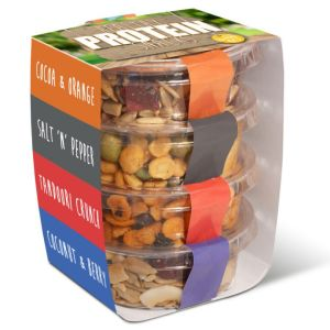 Promotional Eco Pot Protein Snack Stacks for Events
