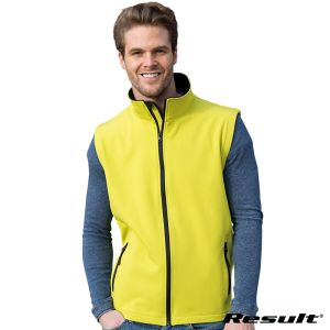 Promotional Result Core 2 Layer Softshell Bodywarmers for Staff Uniform