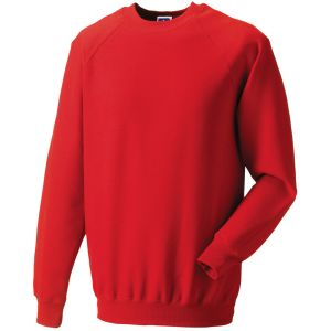 Custom Printed Sweatshirts for Branding in Bright Red
