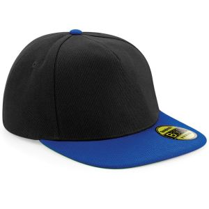 Black/Bright Royal Promotional Snap Back Caps with Authentic Peak Sticker