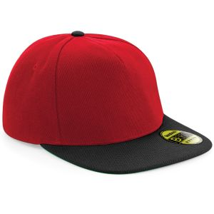 Classic Red/Black Branded Snap Back Caps as Promotional Giveaways