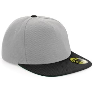 Grey/Black Embroidered Snap Back Caps for Business & Marketing