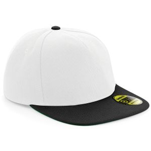 White/Black Corporate Embroidered Snap Back Caps & Branded Merchandise