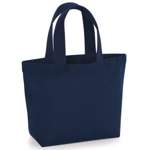 Organic Marina Mini Tote Bags in French Navy