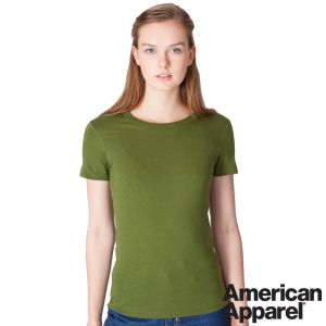 American Apparel Ladies Fine Jersey T-Shirts in Olive Green
