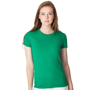 American Apparel Ladies Fine Jersey T-Shirts in Kelly Green