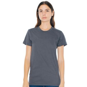 American Apparel Ladies Fine Jersey T-Shirts in Asphalt