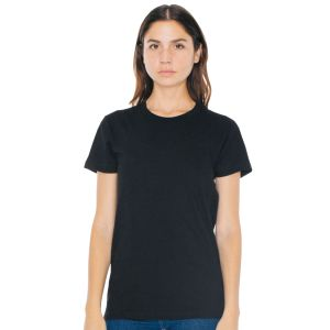 American Apparel Ladies Fine Jersey T-Shirts in Black