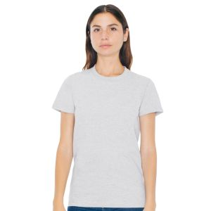 American Apparel Ladies Fine Jersey T-Shirts in Heather Grey