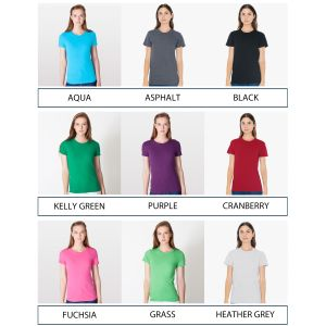 American Apparel Ladies Fine Jersey T-Shirts