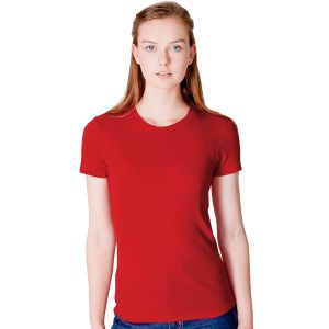 American Apparel Ladies Fine Jersey T-Shirts in Red