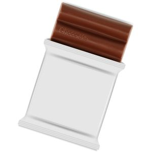Printed Bars of Chocolate for Company Merchandise