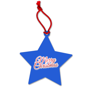 Blue Custom Printed Christmas Decorations for Business Promotions