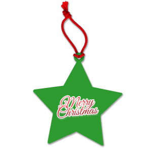 Green Logo Printed Hanging Christmas Decorations for Charity