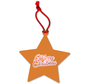 Orange Corporate Personalised Christmas Baubles for Marketing Ideas