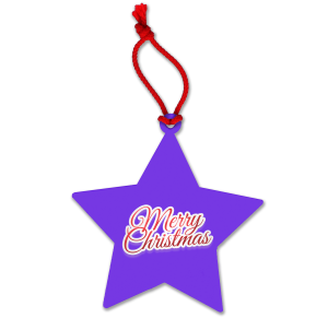 Purple Promotional Star Decorations for Advertising this Christmas
