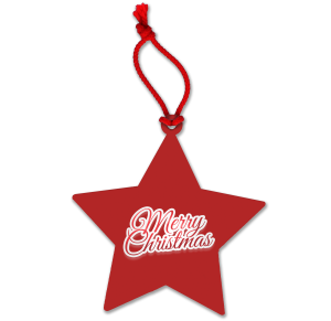 Red Christmas Stars Printed with Your Company Logo