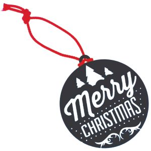 Black Eco-friendly Christmas Baubles for Promotional Gifts
