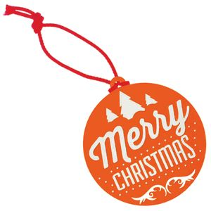Orange Corporate Branded Hanging Decorations for Businesses at Christmas