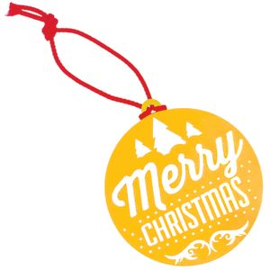 Yellow Corporate Branded Christmas Decorations & Baubles