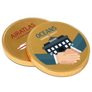 Promotional 55mm Chocolate Medallions