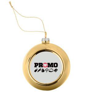 Promotional Semi Sphere Christmas Baubles with your Company Logo