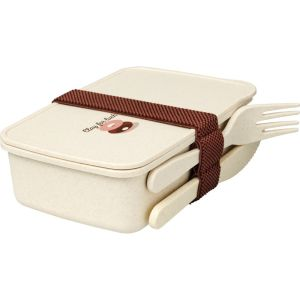 Printed Bamboo Fibre Lunch Boxes for Giveaways