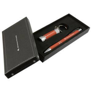 Orange Promotional Pen And Torch Gift Sets