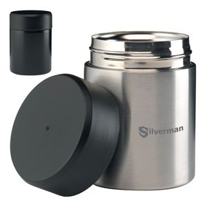 Silver Branded Food Flask