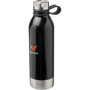 Branded Metal Water Bottles in Black