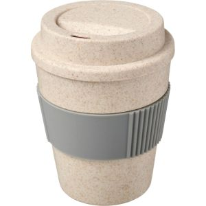 350ml Wheat Straw Take Out Cups in Natural/Grey