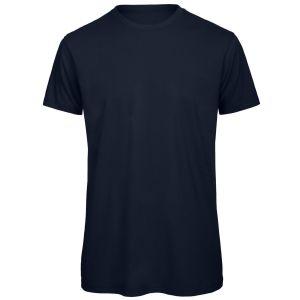 Organic Cotton Printed T-Shirt In Navy